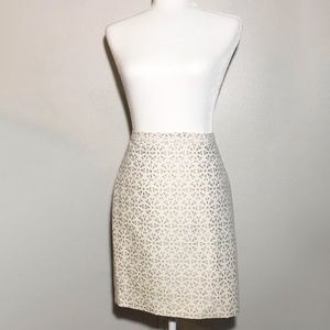 Michael Kors Textured White Mini Skirt